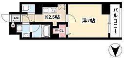 仮)道下町プロジェクト 4階1Kの間取り
