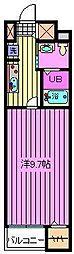 サニーフラットII[404号室]の間取り