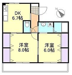 AXIA倉敷[3階]の間取り