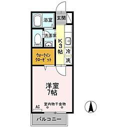 TOKIO-CF[2階]の間取り