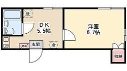 プランドール稔台[2階]の間取り