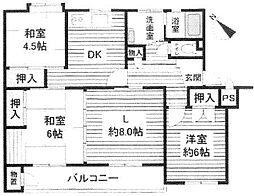 神奈川県相模原市南区鵜野森1丁目の賃貸マンションの間取り