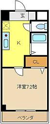 愛知県名古屋市港区辰巳町の賃貸マンションの間取り