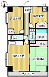メゾンドフレール[2階]の間取り
