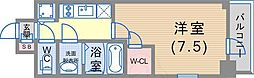 JR東海道・山陽本線 神戸駅 徒歩5分の賃貸マンション 6階1Kの間取り
