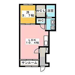 sunlit house[1階]の間取り