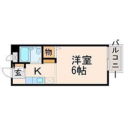 プチハウス西立花[1階]の間取り