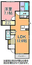 GSasuka 1階1LDKの間取り