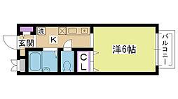 メゾン香露園[205号室]の間取り