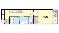 兵庫県神戸市灘区日尾町2丁目の賃貸マンションの間取り