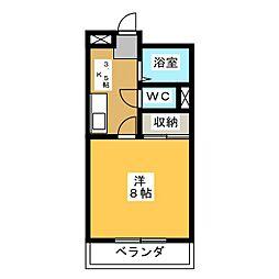 リバーサイド松原[2階]の間取り