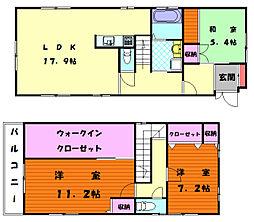 [一戸建] 福岡県福岡市東区名島3丁目 の賃貸【/】の間取り