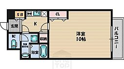 アスール江坂[5階]の間取り