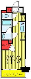GRAND-AILES駒込 4階ワンルームの間取り