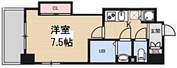Luxe花園 13階1Kの間取り