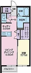 JR奥羽本線 山形駅 山形警察署前下車 徒歩4分の賃貸アパート 1階1LDKの間取り