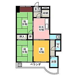メゾンカトウII[3階]の間取り