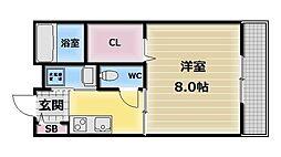 プラサート小阪[1階]の間取り