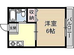 ピットイン稲葉[1階]の間取り