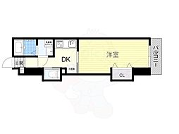 南海線 石津川駅 徒歩8分の賃貸アパート 1階1DKの間取り