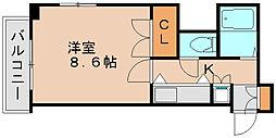 エスポワール箱崎3[2階]の間取り