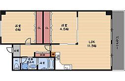 阪神ハイグレードマンション7番館[5階]の間取り