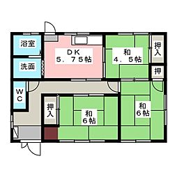 [一戸建] 三重県津市津興 の賃貸【/】の間取り