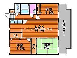 スカール青江I[4階]の間取り
