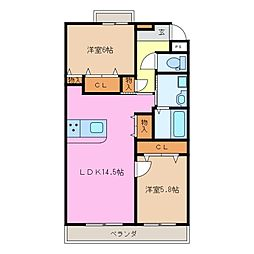 仮)前川様マンションII[3階]の間取り