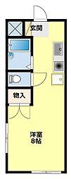 愛知県豊田市久保町2丁目の賃貸アパートの間取り
