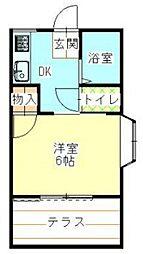 埼玉県入間郡毛呂山町大字下川原の賃貸アパートの間取り