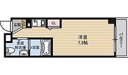 カルーフsunI 1階ワンルームの間取り