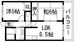 第一南マンション[3階]の間取り