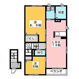 クレールエーリ[2階]の間取り