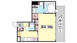 レジディア神戸元町[4階]の間取り