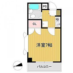 パークハイツ二軒茶屋[8階]の間取り