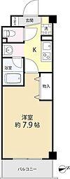 都営三田線 春日駅 徒歩6分の賃貸マンション 3階1Kの間取り