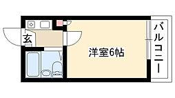 愛知県名古屋市瑞穂区土市町2丁目の賃貸アパートの間取り