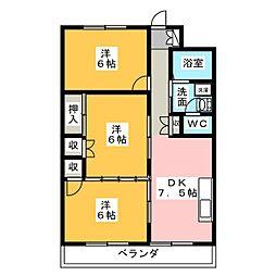 メゾン千里[5階]の間取り
