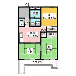 ル・グラン豊成[4階]の間取り