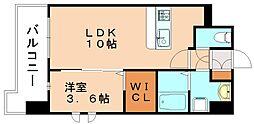 グランドクリーンヒット松田[2階]の間取り