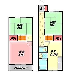 Osaka Metro谷町線 守口駅 徒歩8分の賃貸テラスハウス 1階3DKの間取り
