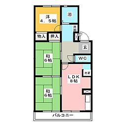 アリスマンション 北棟[3階]の間取り