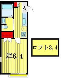 KG八潮II[2階]の間取り