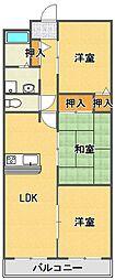 フォーレスト武庫之荘[3階]の間取り