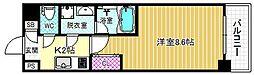 S-FORT福島Libre 3階1Kの間取り