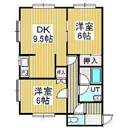 クリスタルハーモニー13[1階]の間取り