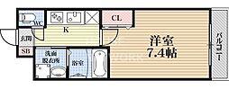 A-mon京大北[407号室号室]の間取り