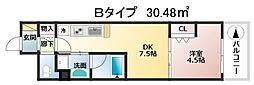 ザ・パークハビオ天満橋[7階]の間取り