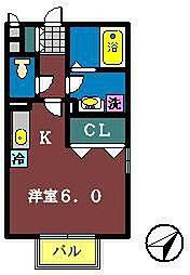 プロシード西船[101号室]の間取り